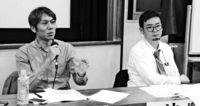 「偏向報道」レッテルに反論/宮古 県内2紙記者招き学習会