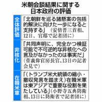 米朝首脳会談:安倍首相、本音封印し「支持」表明 拉致協力優先、不安漂う【深掘り】