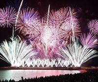 沖縄で日本一早い花火大会、春の夜空に10000発! 琉球海炎祭に15000人