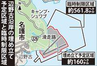 名護漁協が全漁業権を放棄 辺野古新基地の制限区域内