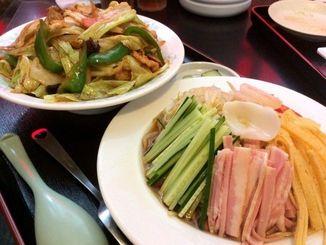 冷やし中華+回鍋肉飯750円
