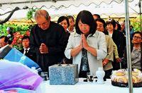 「集団自決」犠牲者悼み、渡嘉敷から平和誓う 遺族ら100人、慰霊祭に参列