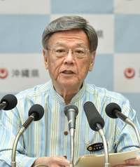 「沖縄に心を寄せる立場なのに…」 知事、鶴保氏発言に失望感