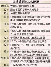 県民の権利獲得に奔走 大衆運動支えた福地曠昭さん 沖縄現代史に重なる人生