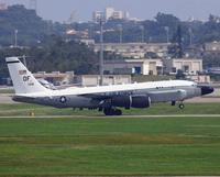米軍の情報収集機 北朝鮮への任務飛行か 嘉手納基地にに帰投