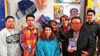 [ワールド通信員ネット]/@パリ/芸術の都 沖縄工芸称賛/県内の4人 創作展出品/紅型や草木染 ジュエリーも