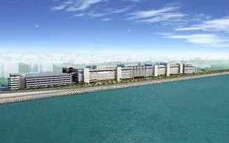 浦添市西海岸に建設される商業施設のイメージ図(サンエー提供)