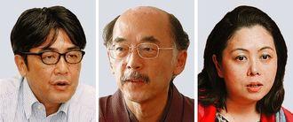(左から)安田浩一さん、前田朗さん、谷口真由美さん