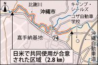 比謝川、日米が共同使用 嘉手納弾薬庫内2.8キロ 合同委で合意