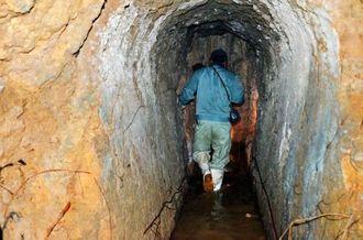 宮古島市城辺で見つかった旧日本軍が構築したとみられる「西更竹司令部壕跡」(同市教育委員会提供)