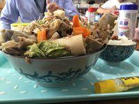 今日もガッツリ!運転手メシ(297)浦添市仲西の「お肉の店 仲村」で骨汁を食べたの巻