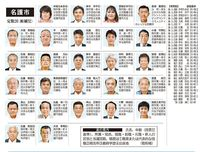 名護市議選挙:当選者26人の一覧