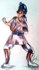 当時、衝撃を受けた千原エイサーの様子を描いたイラスト