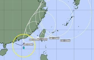 台風9号の経路図(気象庁HPから)