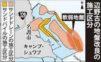 水面下90m杭打ち船、国内になし どうする?新基地の大浦湾地盤改良