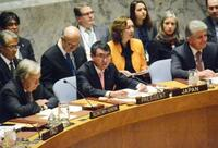 河野外相、最大圧力を要請 安保理、北朝鮮が異例出席