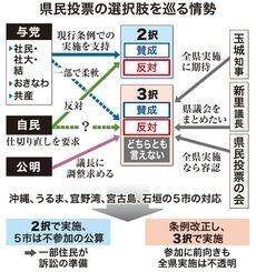 県民投票の選択肢を巡る情勢
