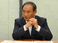 菅氏インタビュー:鉄軌道の可否判断は先 振興予算3千億円守る