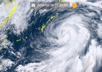 台風5号:大東島地方が暴風域に入る 関東・東海は大雨に