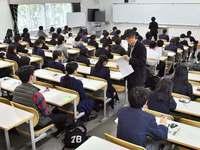 受験生ドキドキ、緊張の面持ち 琉球大学などで一般入試始まる