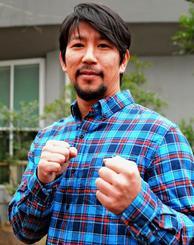 「最近、ようやく格闘競技者から格闘家になってきた」と語る松田恵理也さん=東京都板橋区