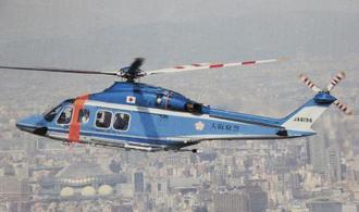 大阪府警が所有するヘリコプター「おおわし」(大阪府警提供)