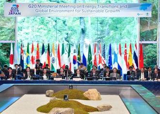 閉幕したG20エネルギー・環境相会合=16日午後、長野県軽井沢町