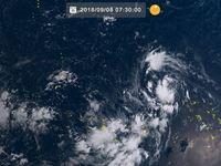 台風22号(マンクット)が発生 マーシャル諸島を西へ