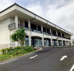 完成したハワイ沖縄プラザの外観=29日、米ハワイ州オアフ島(同プラザ建設募金推進本部提供)