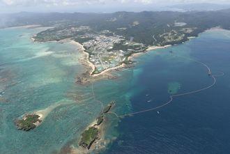名護市辺野古沖、キャンプシュワブ(資料写真)