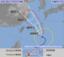 20日午前9時現在の台風10号の進路予想図(気象庁HP)