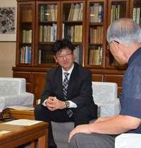 下地島空港で10月中旬から訓練 バニラエア社長が浦崎副知事表敬