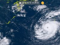 台風19号(ソーリック)小笠原付近を北上 進路を北西に変える見込み