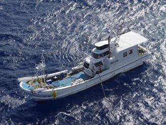 外国漁船監視業務中に連絡が途絶えた名護漁協所属の「哲丸」=那覇海上保安部提供