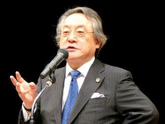 講演する小林名誉教授