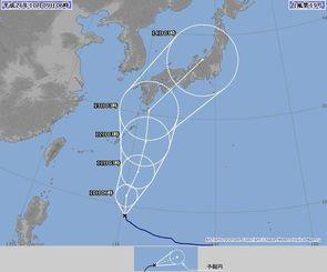 台風19号の進路予報図(9日午前6時現在、気象庁ホームページから)