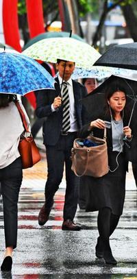 激しい雨、通勤時間帯の沖縄に直撃 1週間の予報は?