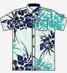 ヤクルトスワローズのロゴマークなどをあしらった特製かりゆしウエアのデザイン