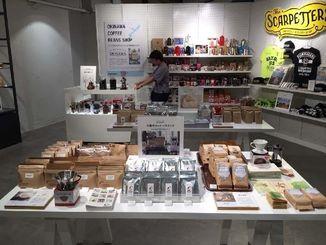 渋谷ロフト内にオープンした「OKINAWA COFFEE BEANS SHOP」=5日、東京都(ブックリスタ提供)
