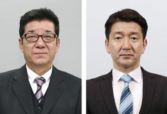 松井一郎氏、柳本顕氏