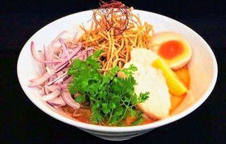 ラーメン日本一決定戦で全国6位となったタイ風創作麺「カオソーイ」