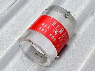 宜野湾市の保育園に落ちた円筒(2017年12月)