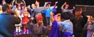 最後は全員でカチャーシーを踊る参加者ら=コルマール市内