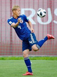 日本は予定早め非公開で練習 19日、コロンビアと初戦