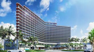 宜野湾市の旧カルチャーリゾート・フェストーネ跡地に2022年春の開業を予定するプリンスホテルのイメージ図
