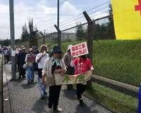 「県の行政指導に従って」 160人が座り込み、辺野古新基地建設に抗議