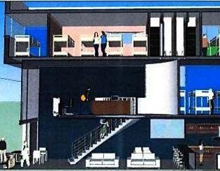 「コザまち社中」が運営するホテルの当初予定図(コザまち社中提供)