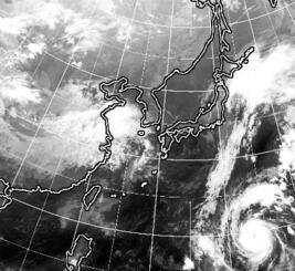 10月22日23時現在のひまわり雲画像