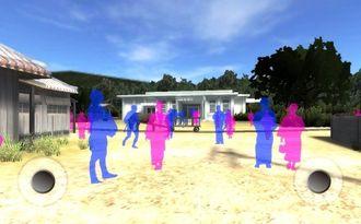 「与那原軽便駅舎VR」の画面