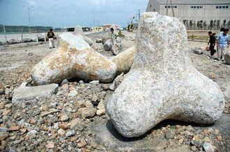 2006年9月の台風13号で被害があった本部港